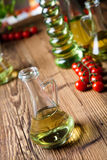 Olive oil and olives, Mediterranean rural theme Royalty Free Stock Photo