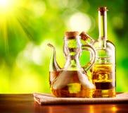 Olive Oil op de Lijst Stock Afbeelding