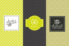 Olive oil packaging Royalty Free Stock Images