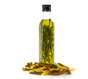 Olive oil and pasta Stock Images