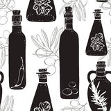 Olive oil pattern Royalty Free Stock Photos