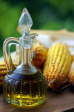 Olive oil in pitcher Royalty Free Stock Image