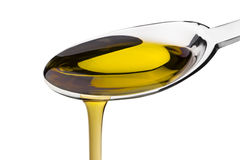 Free Olive Oil Poured From A Spoon Royalty Free Stock Images - 7780099