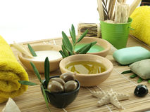 Olive oil products Stock Images