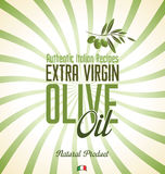 Olive oil retro background Stock Image
