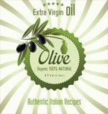 Olive oil retro background Royalty Free Stock Photos