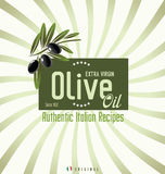 Olive oil retro background Stock Photography