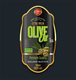 Olive oil retro vintage background label.  Stock Photos