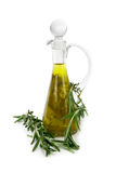 Olive oil with rosemary Stock Image