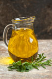 Olive oil and rosemary Royalty Free Stock Photography