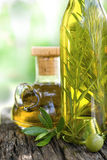Olive oil with rosemary Stock Images