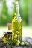 Olive oil with rosemary Stock Photo