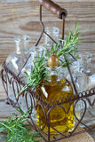 Olive oil and rosemary Stock Image