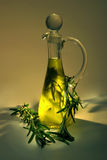 Olive oil with rosemary Stock Photos