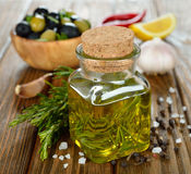 Olive oil with rosemary Stock Photography