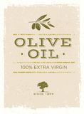 Olive Oil Rough Vector Illustration orgánica en fondo del Grunge stock de ilustración