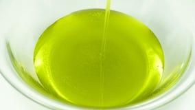 Olive oil running stock video