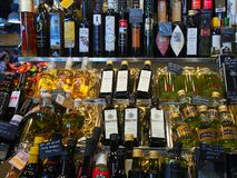 Olive Oil, Saint Josep Market, Barcelona Royalty Free Stock Images