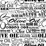 Olive oil seamless pattern. Royalty Free Stock Photos