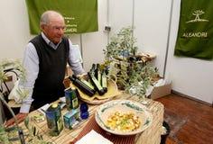 Olive Oil Seller Stock Images
