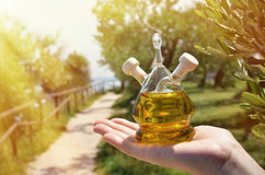 Olive oil. Sirmione, Italy Royalty Free Stock Photo