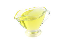 Olive oil in small jar Royalty Free Stock Image