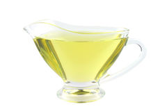 Olive oil in small jar Stock Photos