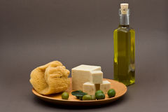 Olive oil soap Stock Photo