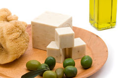 Olive oil soap Royalty Free Stock Photography
