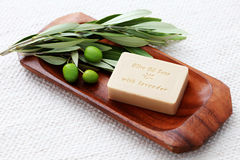 Olive oil soap Royalty Free Stock Images