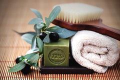 Olive oil soap Royalty Free Stock Image