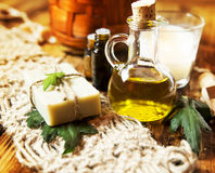 Olive Oil Spa Therapy Royalty Free Stock Photography