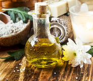 Olive Oil Spa Therapy Stock Photos