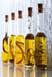 Olive oil with spices and herbs. Stock Images