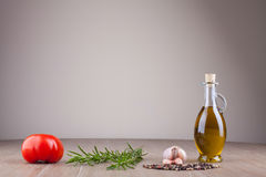 Olive oil and spices Royalty Free Stock Photography