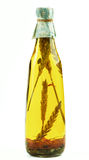 Olive Oil with Stems of Cereals Stock Photos