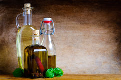 Olive oil still life Stock Photo