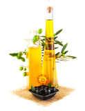 Olive oil still life Royalty Free Stock Image