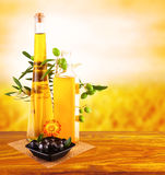 Olive oil still life Royalty Free Stock Images
