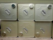 Olive Oil Storage Cans Royaltyfri Foto