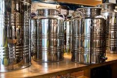 Olive Oil Tanks fotografie stock