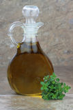 Olive Oil and Thyme Stock Photo
