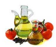 Olive oil and tomatoes Stock Photo