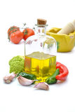 Olive oil with tomatoes Stock Image