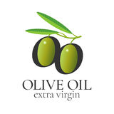 Olive oil vector design element, logo Royalty Free Stock Images