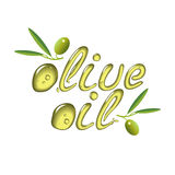Olive oil vector design element, logo Royalty Free Stock Photography