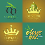 Olive oil vector illustration, background, label, sticker Royalty Free Stock Image