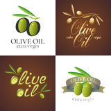Olive oil vector illustration, background, label, sticker Royalty Free Stock Photos