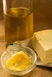 Olive oil, and vegetal butter Royalty Free Stock Images