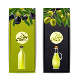 Olive oil vertical banners set Stock Images